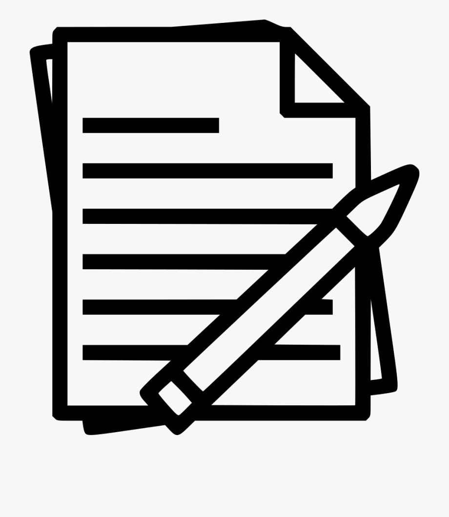 jpg freeuse download Black clip document. Notes clipart paper study