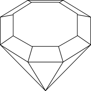 clip art transparent download And white clipart . Black clip gem
