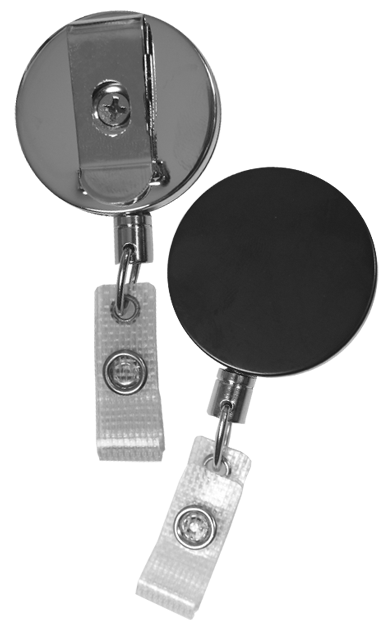 vector free library Black clip metal. Badge reel chrome mm
