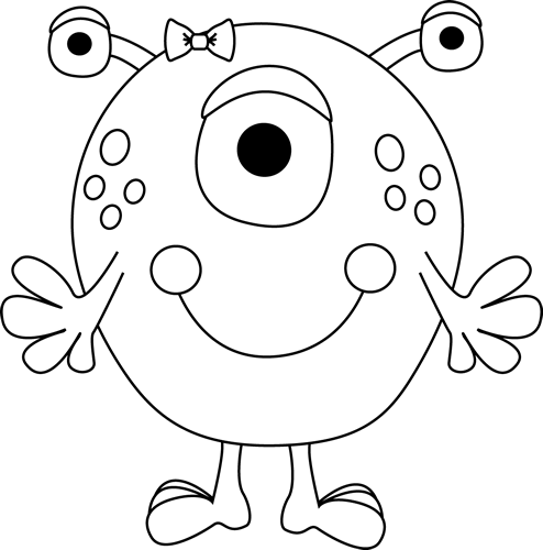 png transparent stock Monster clip art images. Black clipart black and white.