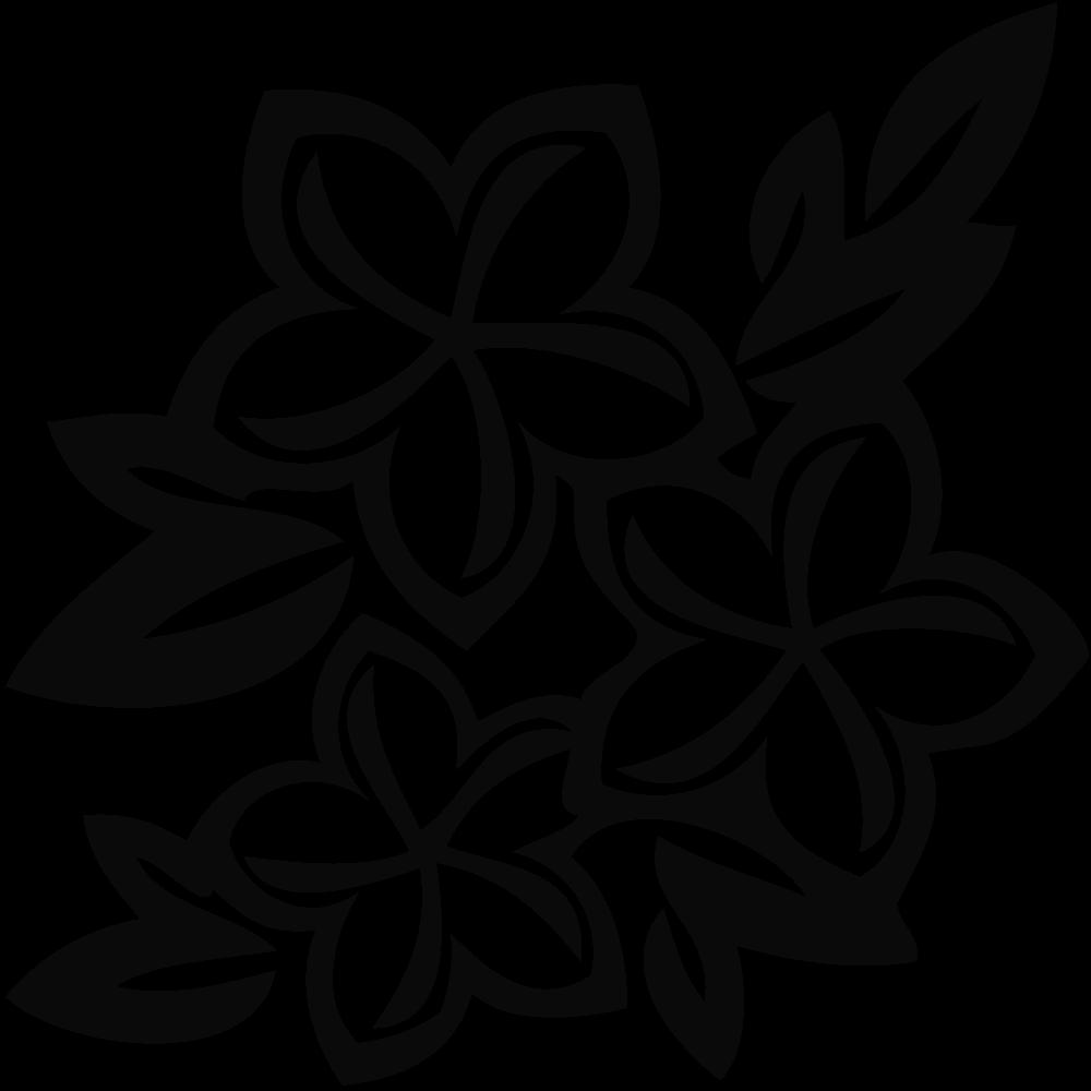 banner transparent download Flower Black Clipart