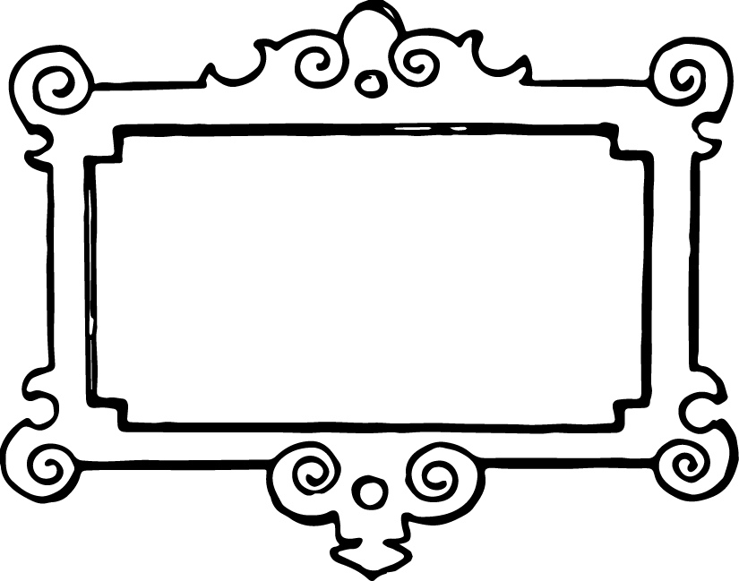 clip art Transparent vintage frameborder black. Drawing rectangle frame