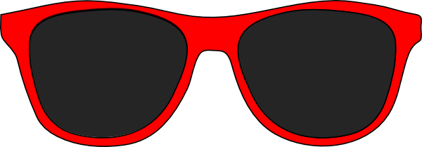 png free stock Red And Black Sunglasses Clip Art at Clker