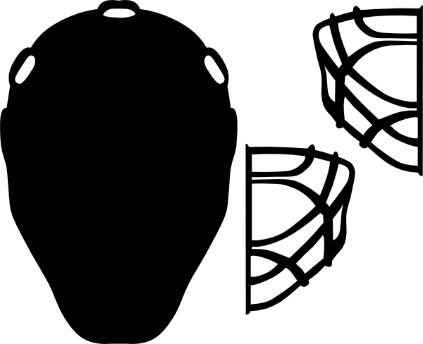 clipart transparent download Hockey goalie clipart. Black mask clip art