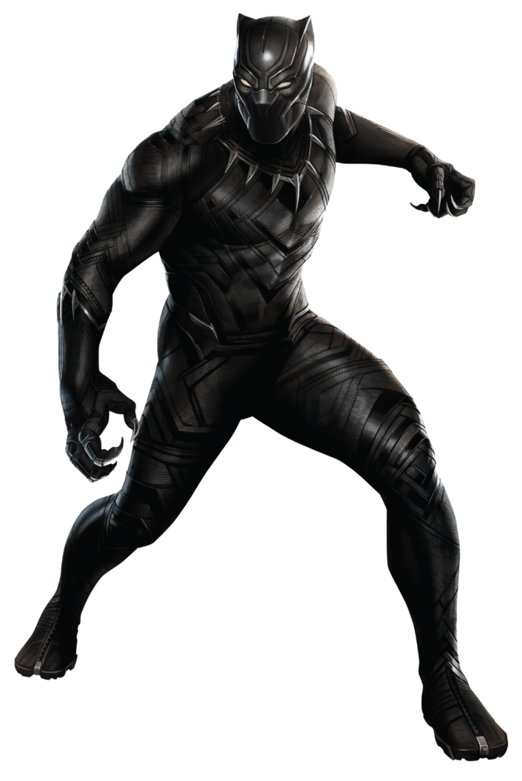 vector black and white library Civil war by sidewinder. Black panther clipart
