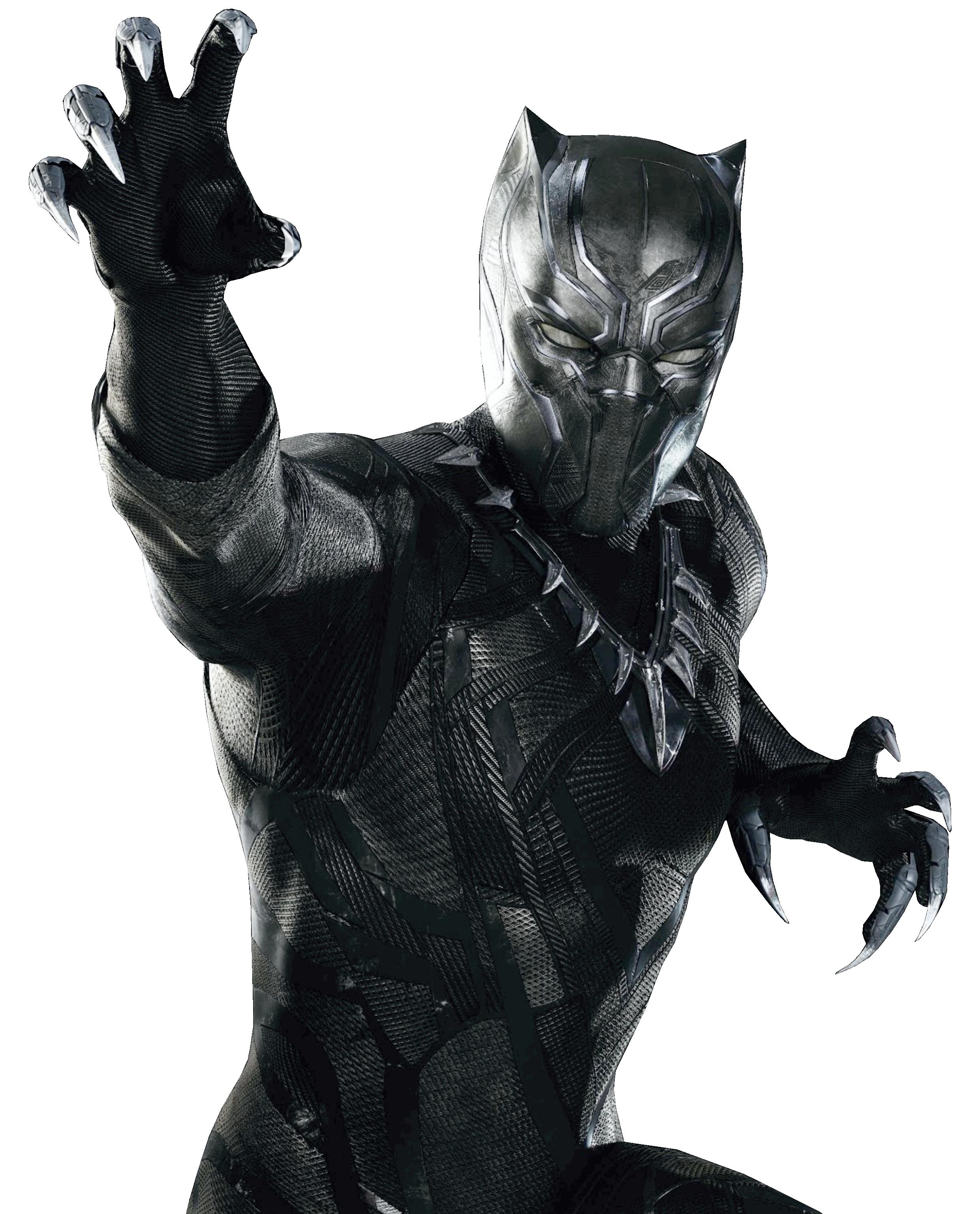svg free stock Marvel cinematic universe superhero. Black panther clipart