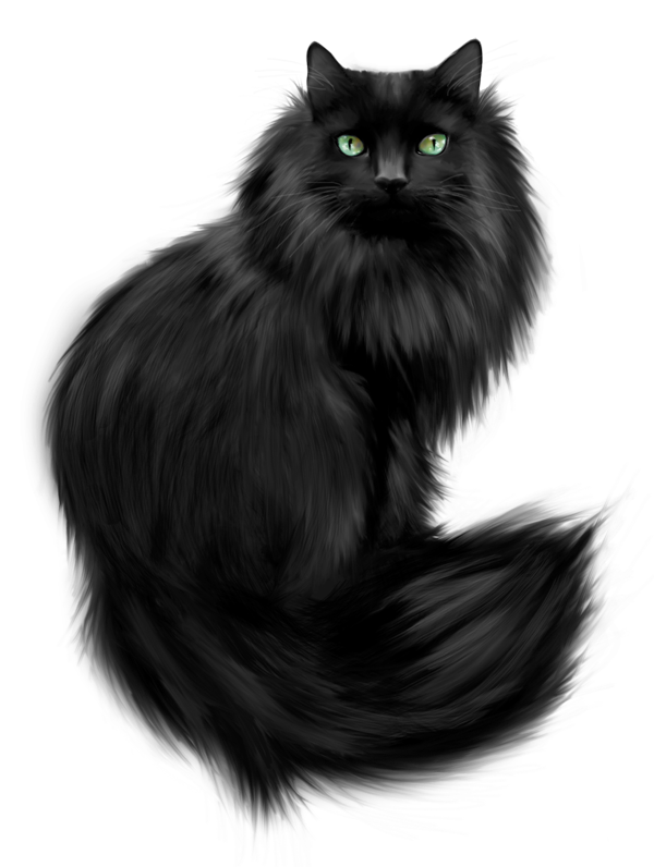 vector free Painted cat cats pinterest. Black panther necklace clipart