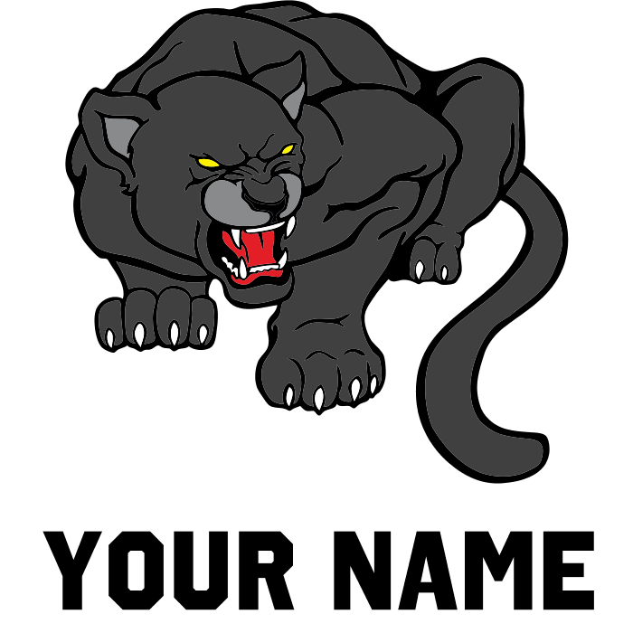 image Black panther necklace clipart. Flask by custommascots