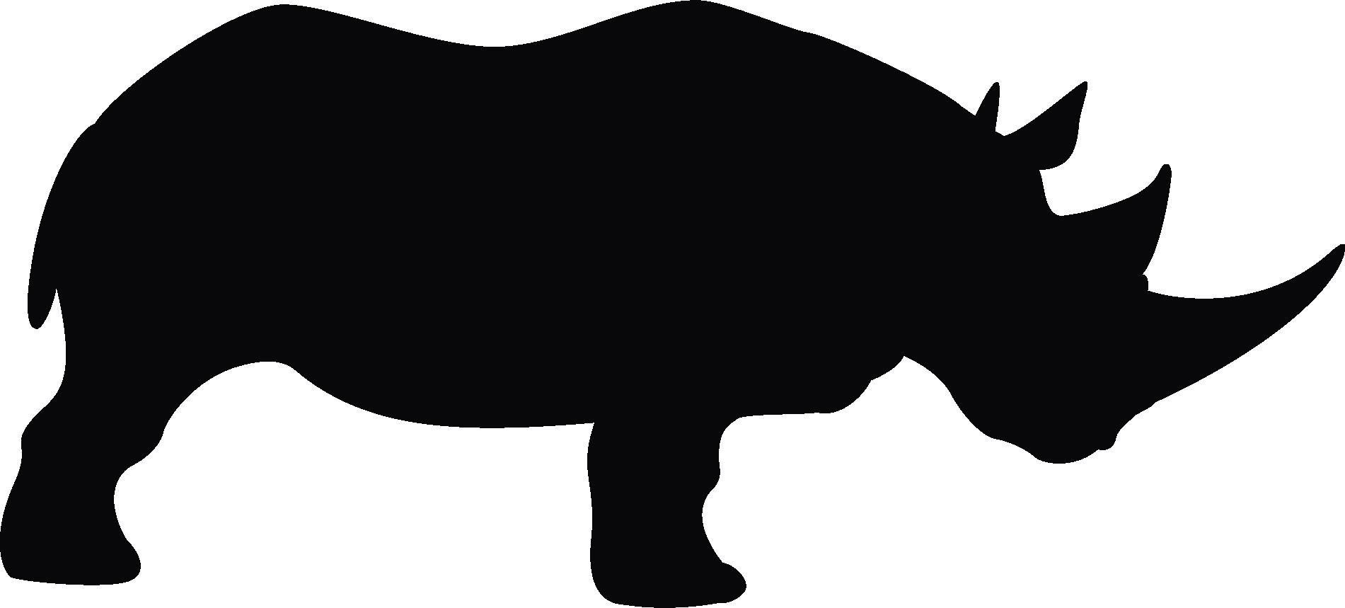 jpg black and white Rhino Head Silhouette at GetDrawings