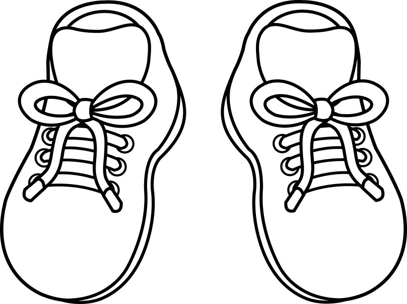 clip transparent stock sneakers clipart coloring #83487664