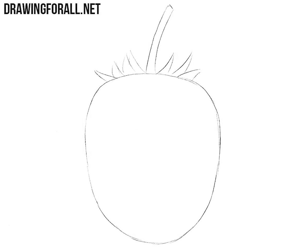 svg freeuse library Blackberry drawing sketch. How to draw a