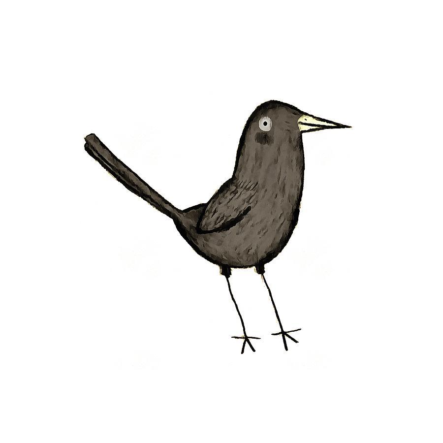 svg transparent download Blackbird drawing.