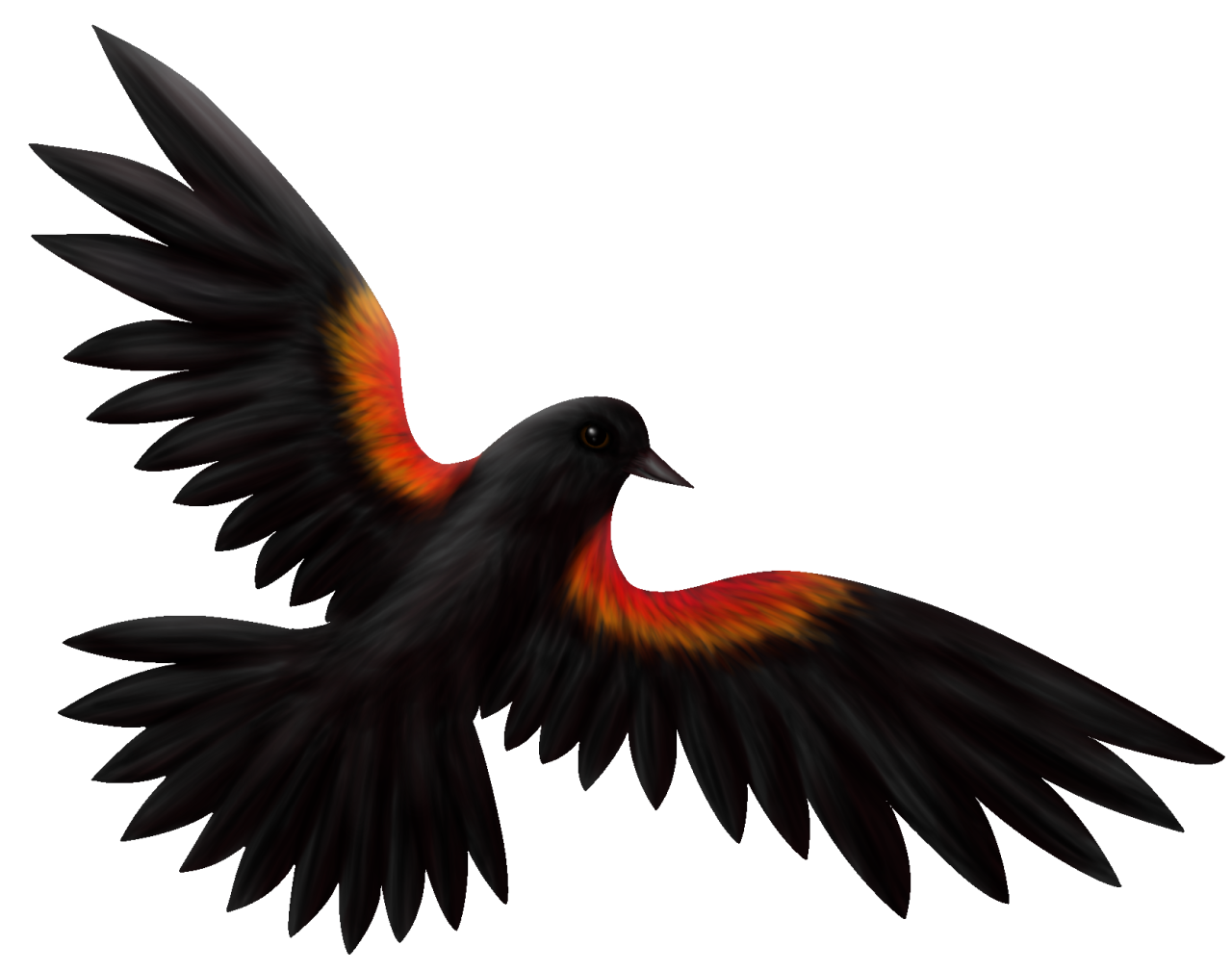 clipart royalty free library The lone artist red. Blackbird drawing gothic