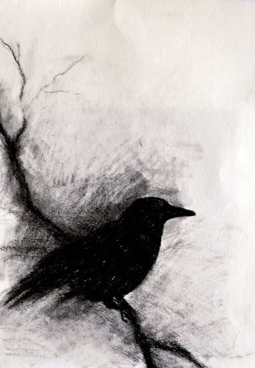 clipart library stock Drawing charcoal crow. Green monsters by paola