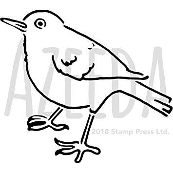 graphic transparent download Amazon com azeeda a. Blackbird drawing stencil
