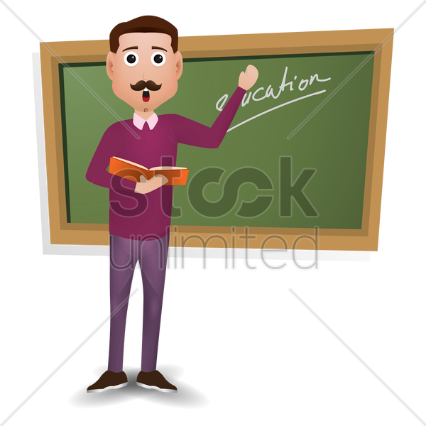 png black and white stock Blackboard clipart 老师. Teacher holding book v