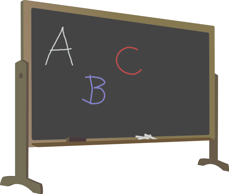clipart stock Blackboard clipart high school classroom. Educational technology lesson maximizing.