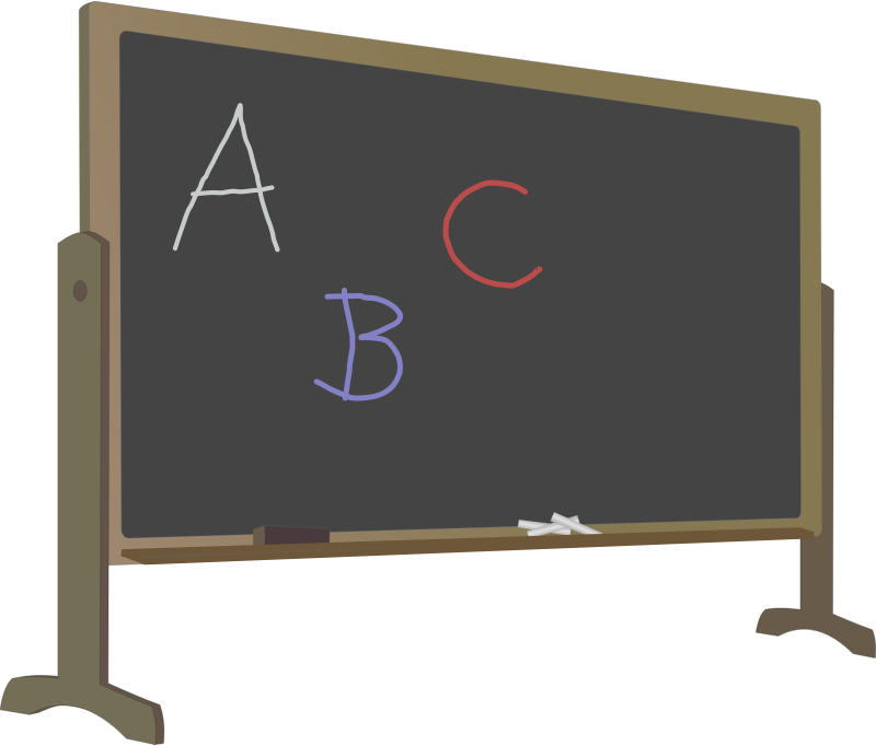 graphic transparent library Blackboard clipart language class. Image for with standletters