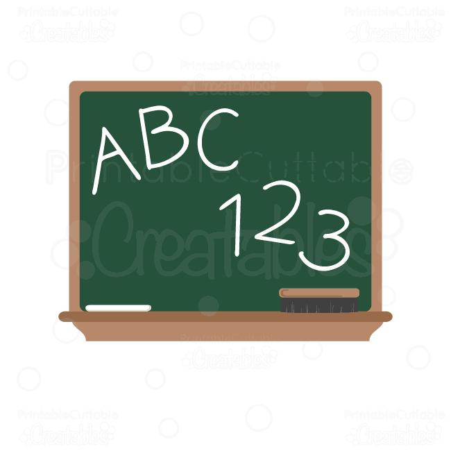 vector transparent library Blackboard clipart svg. Abc chalkboard cut file