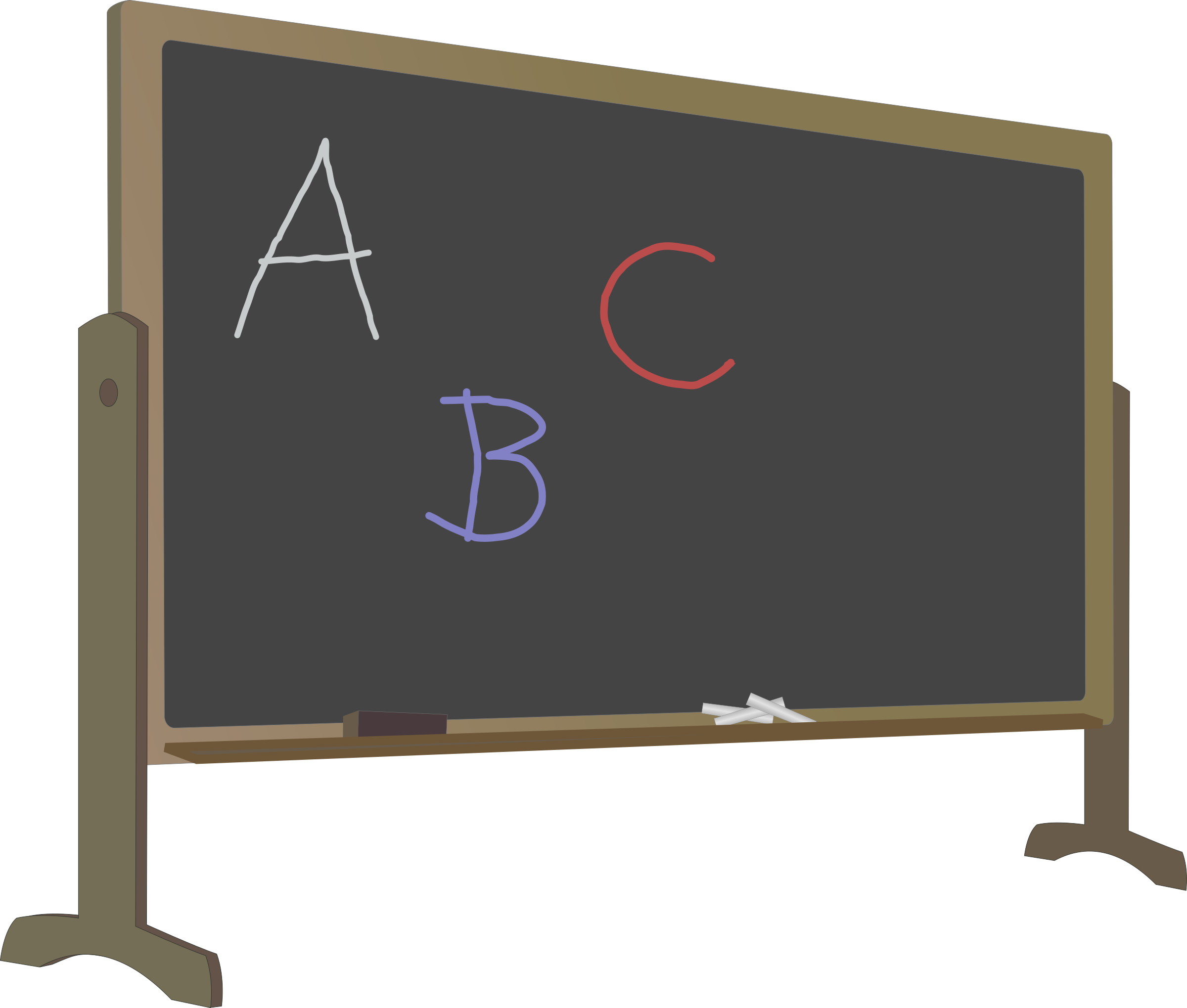 banner freeuse library Blackboard clipart svg. With stand and letters