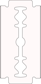 vector free library Razor outline clip art. Blade clipart.