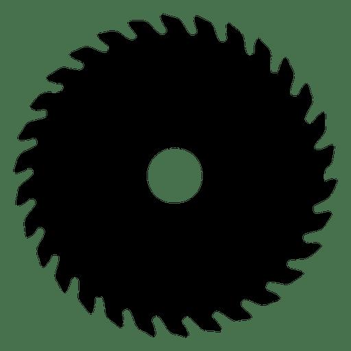 clip art Saw blade silhouette transparent. Sawblade vector