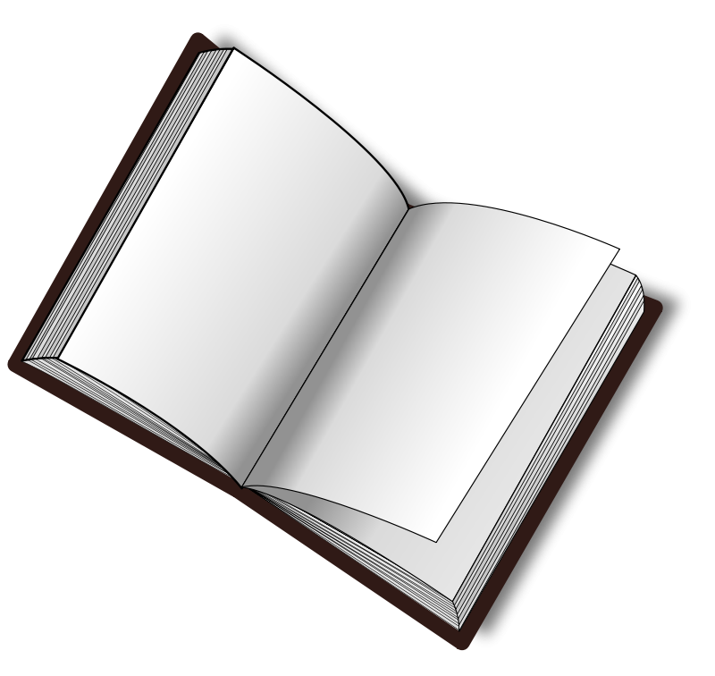svg stock Blank book png image. Vector books transparent background