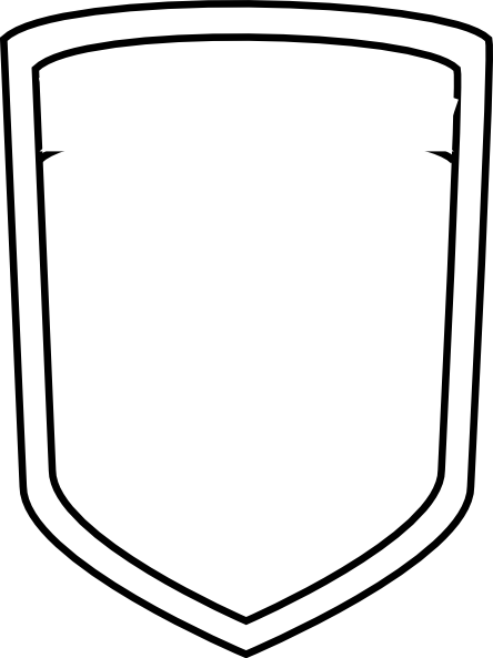 clip library download Blank Shield Clipart