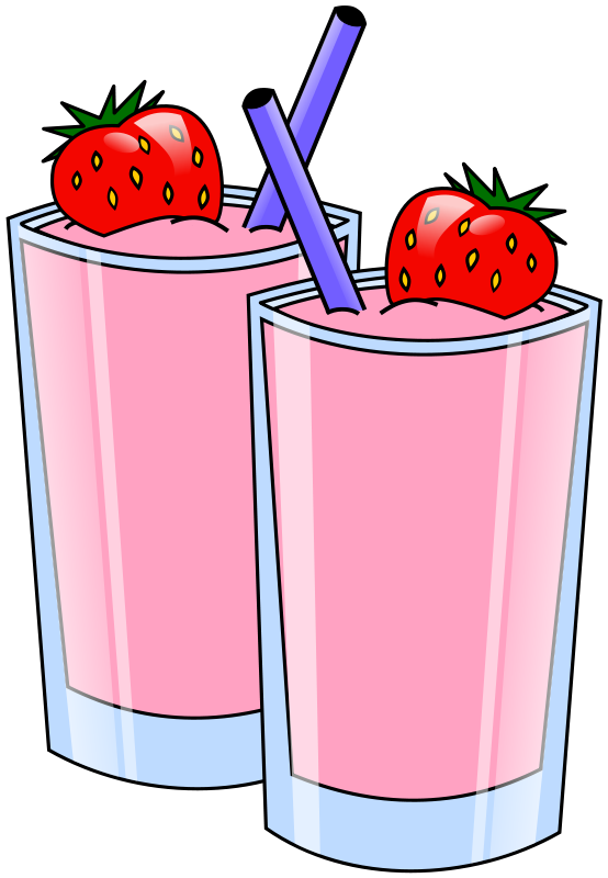 clip art royalty free STRAWBERRY SMOOTHIES