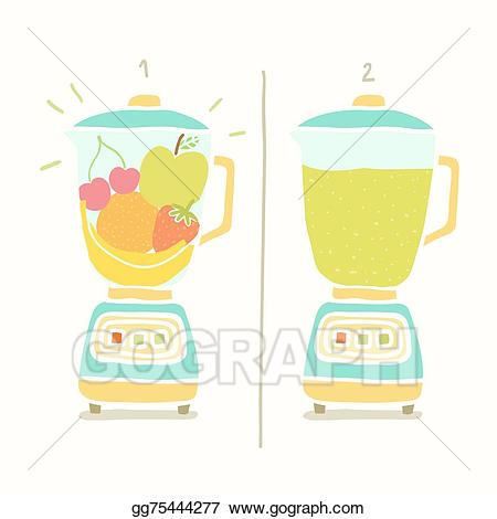 picture library stock Blender clipart vector. Art making fruit smoothie.