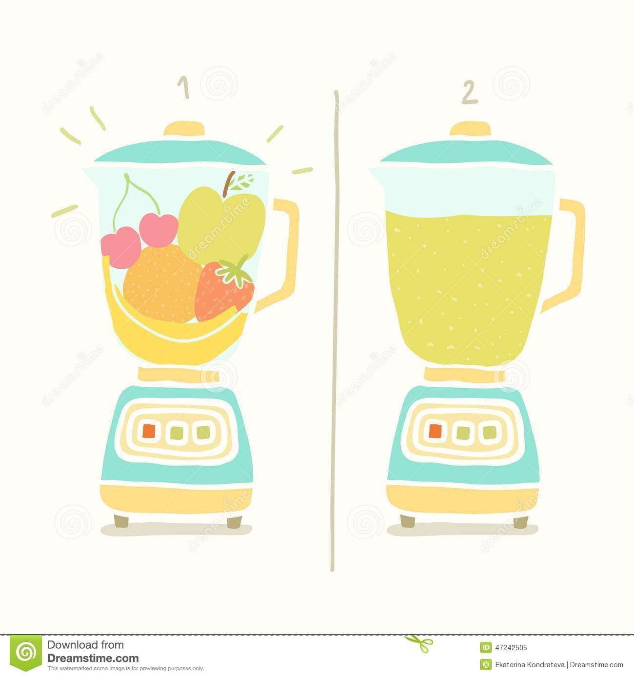 picture freeuse stock Blender clipart vector. Making fruit smoothie eps.