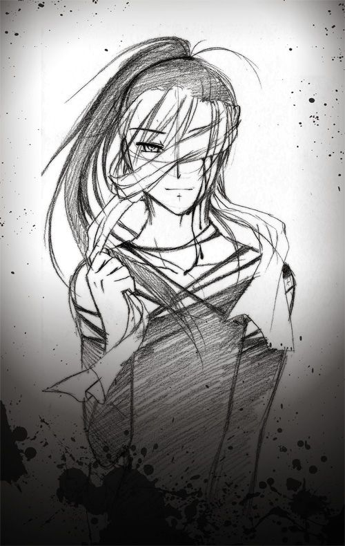 graphic free download Sketch of buscar con. Blindfold drawing anime