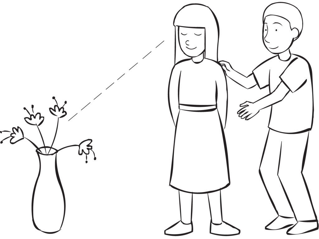 graphic royalty free stock Blindfold drawing blindfolded person. Human camera fun trust