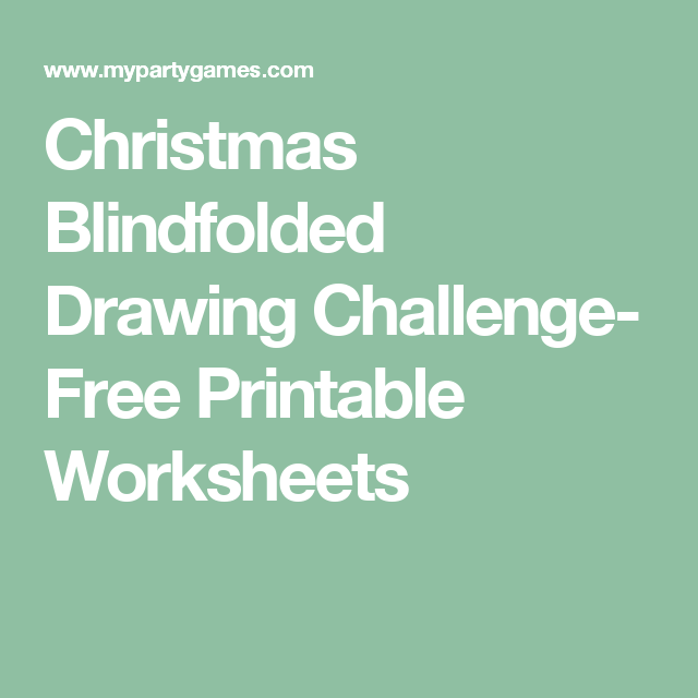 clip freeuse Blindfold drawing christmas. Blindfolded challenge free printable