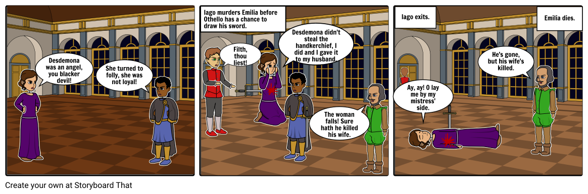 vector royalty free stock Blindfold drawing comic strip. Othello storyboard by jaimes