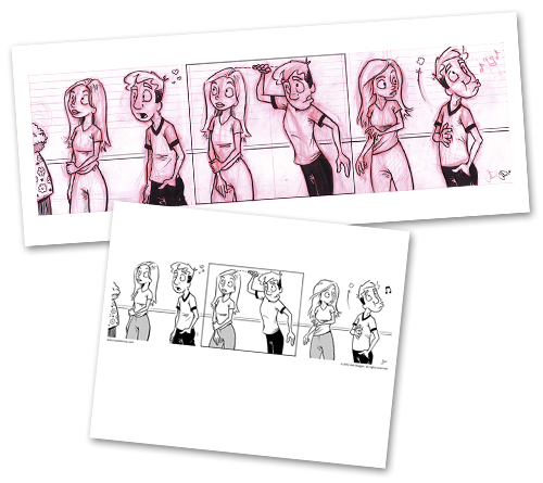 jpg transparent stock Starcrossed original art each. Blindfold drawing comic strip
