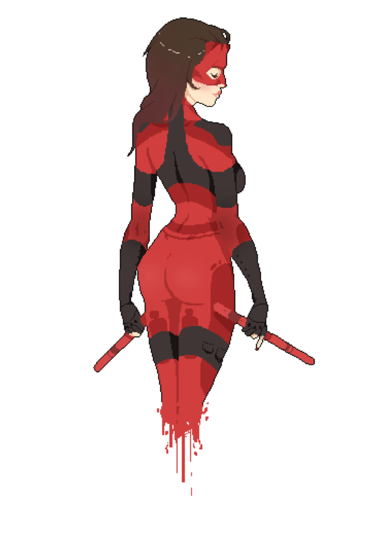 png free library Female pixel by mcrmorbid. Blindfold drawing daredevil