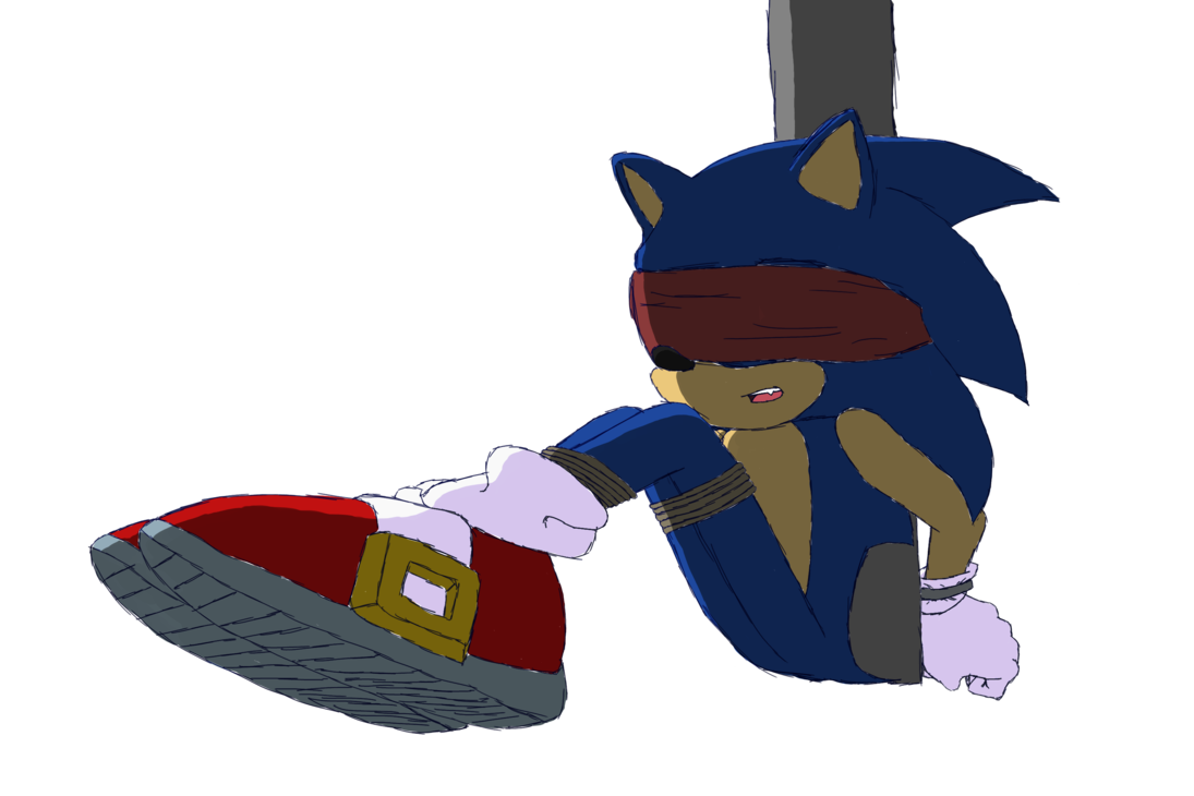jpg royalty free library Sonic tied and blindfolded. Blindfold drawing deviantart