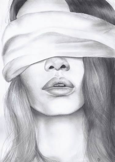 image free Drawings for sale saatchi. Blindfold drawing eye