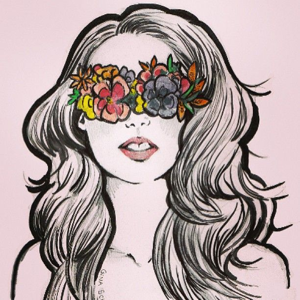 graphic freeuse download Work flowers view vision. Blindfold drawing old