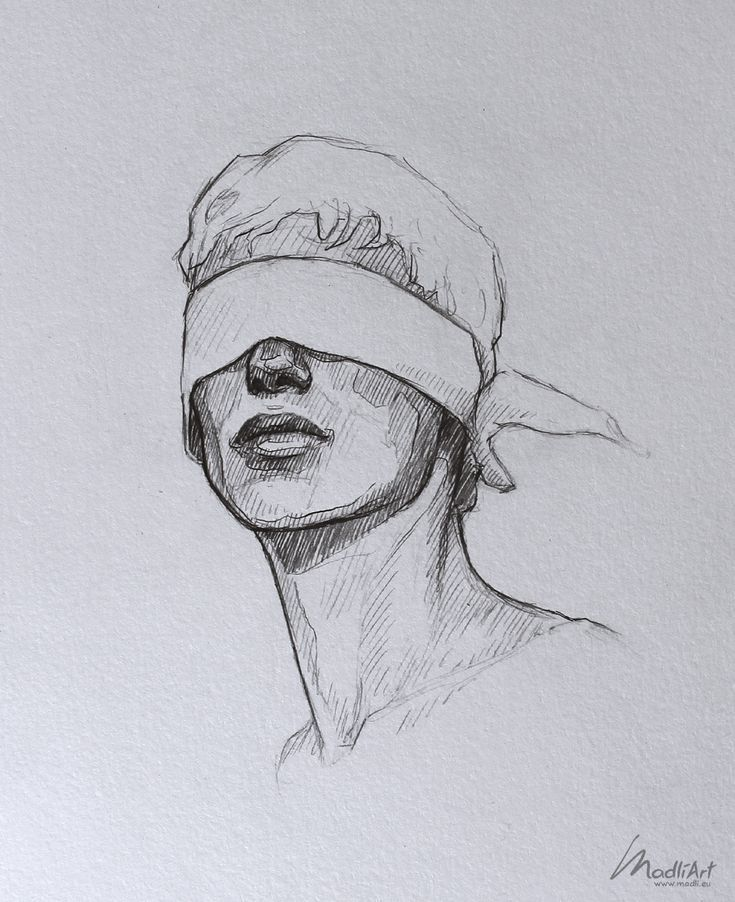 vector freeuse library Blindfold drawing old. Meine skizzenbuchkunst i dreamy