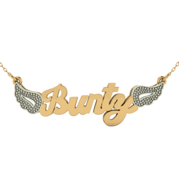 vector library stock Bling transparent chain. Dashing personalized name necklace