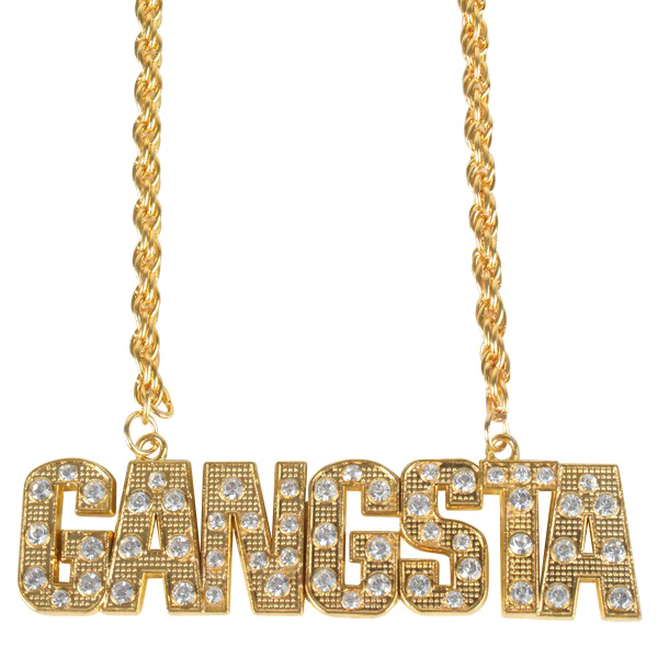 clip freeuse stock Gold chain png thug. Bling transparent gangster