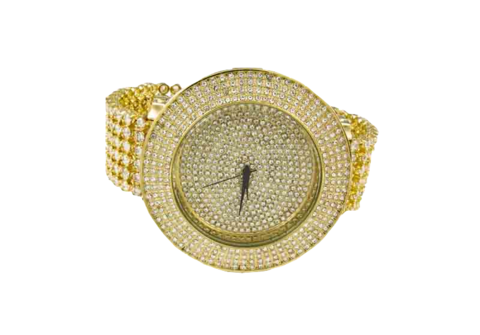 clip transparent stock Ice master row watch. Bling transparent iced out