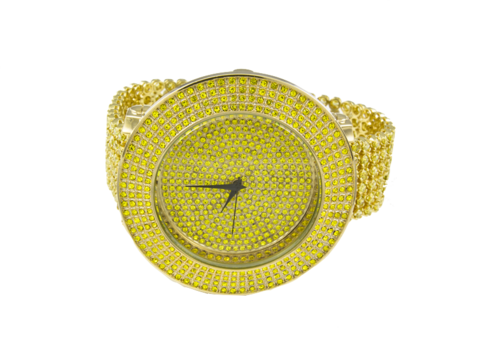 svg black and white library Ice master row watch. Bling transparent iced out