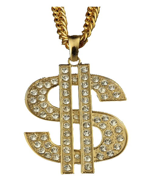 banner royalty free stock Bling transparent thug life. Gold chain png image