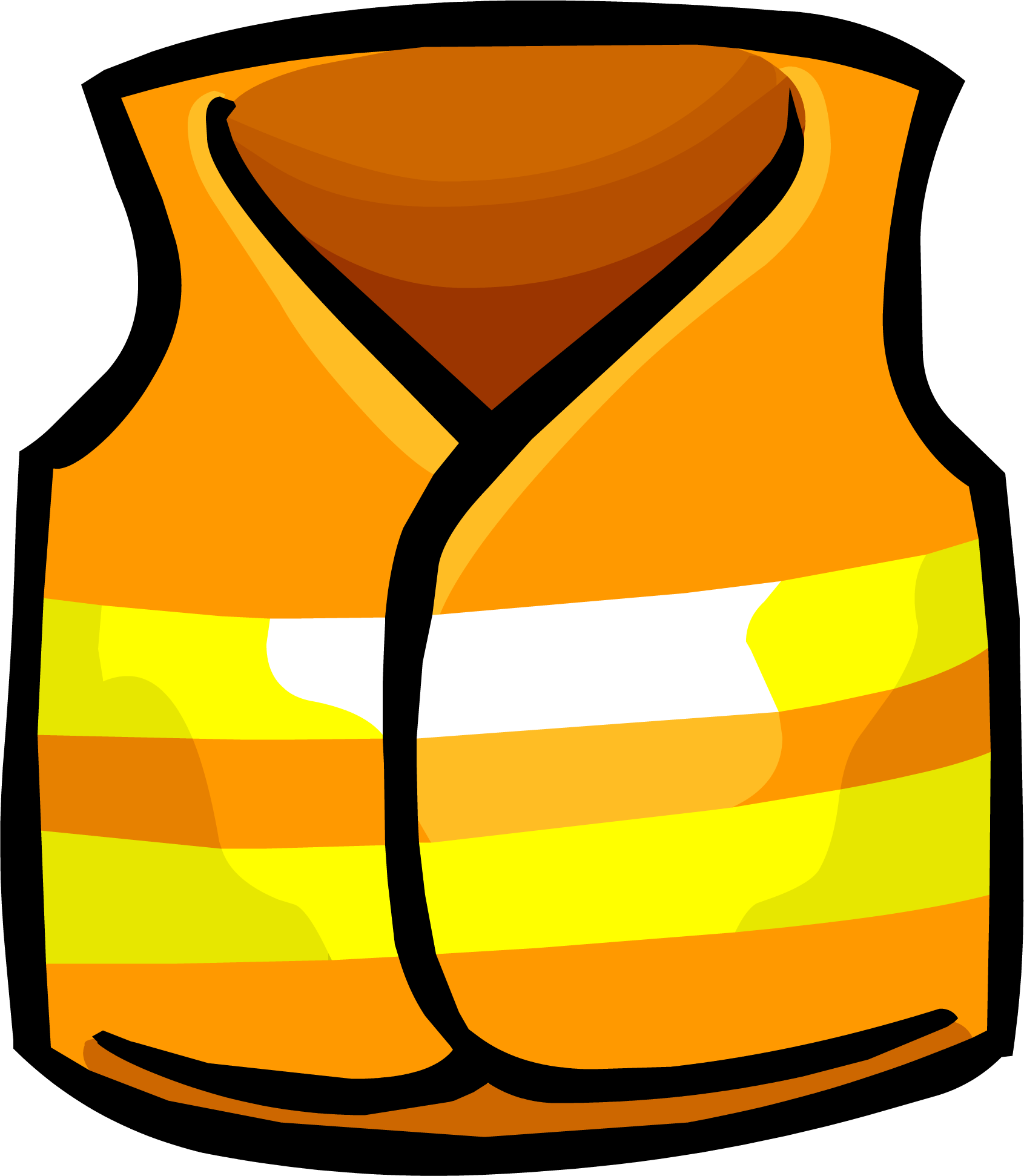 vector transparent stock Construction safety clipart. Image vest clothing icon.