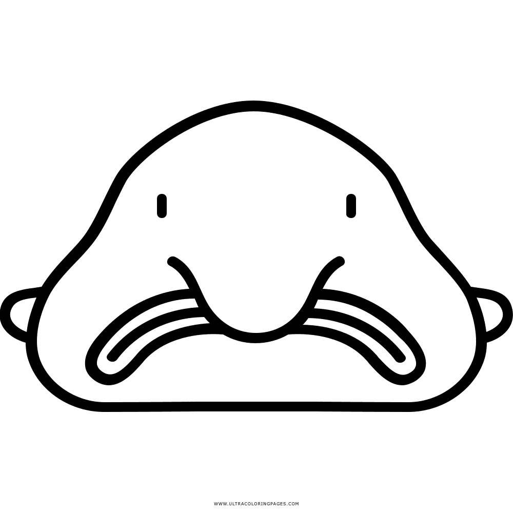 png free stock  collection of blob. Blobfish drawing black and white