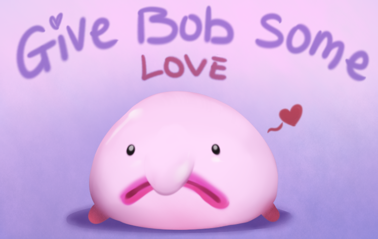 svg freeuse Blobfish drawing bob. The by oblivionheart on