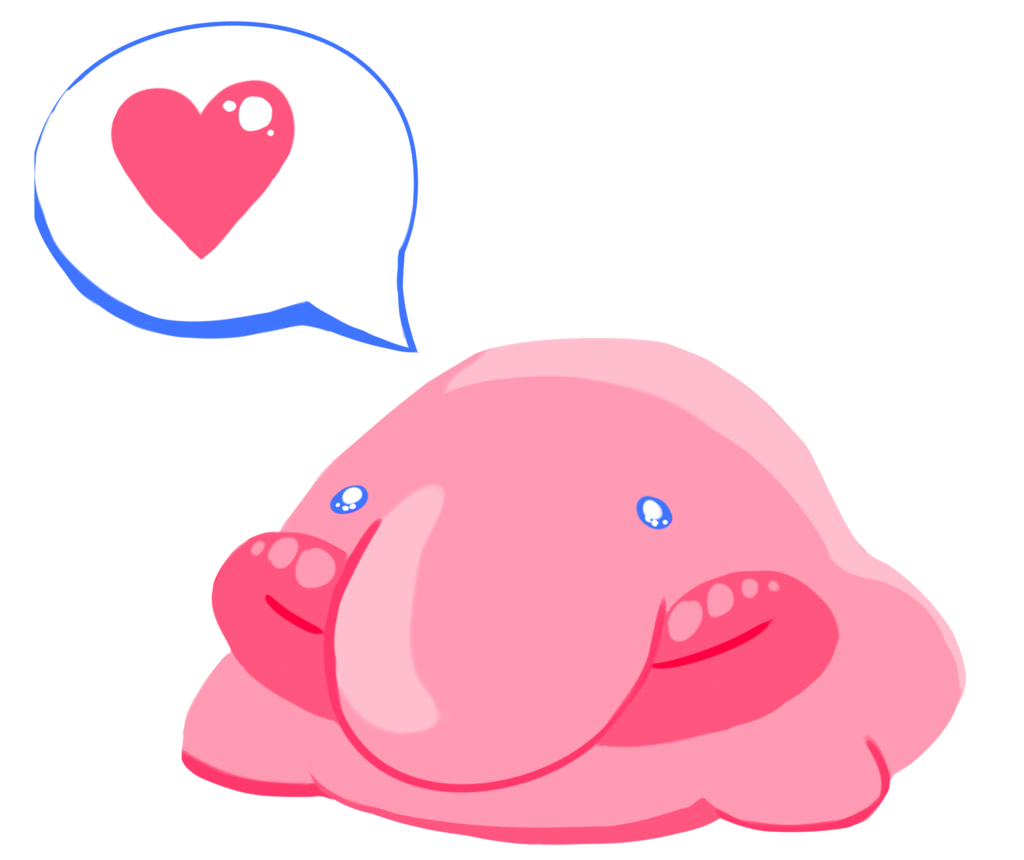 jpg free stock Blobfish drawing cartoon. Kiss love by robogrove